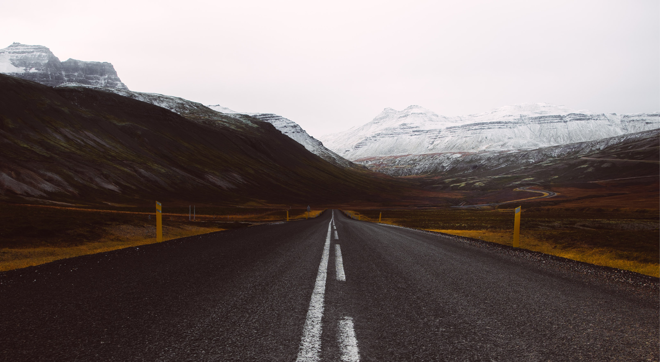 Photo of a long, winding road towards marketing tactics for small businesses facing second lockdown.